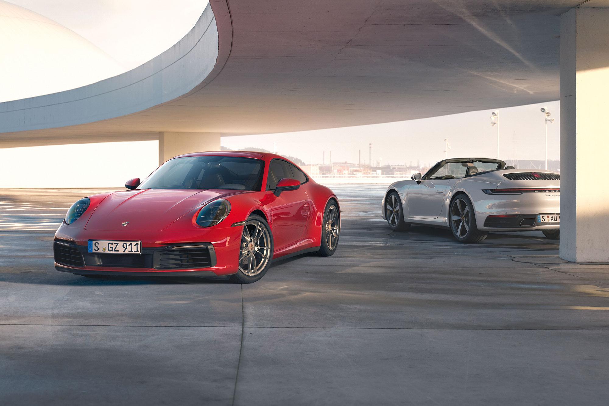 911 Carrera 4 與 911 Carrera 4 Cabriolet 同步亮相
