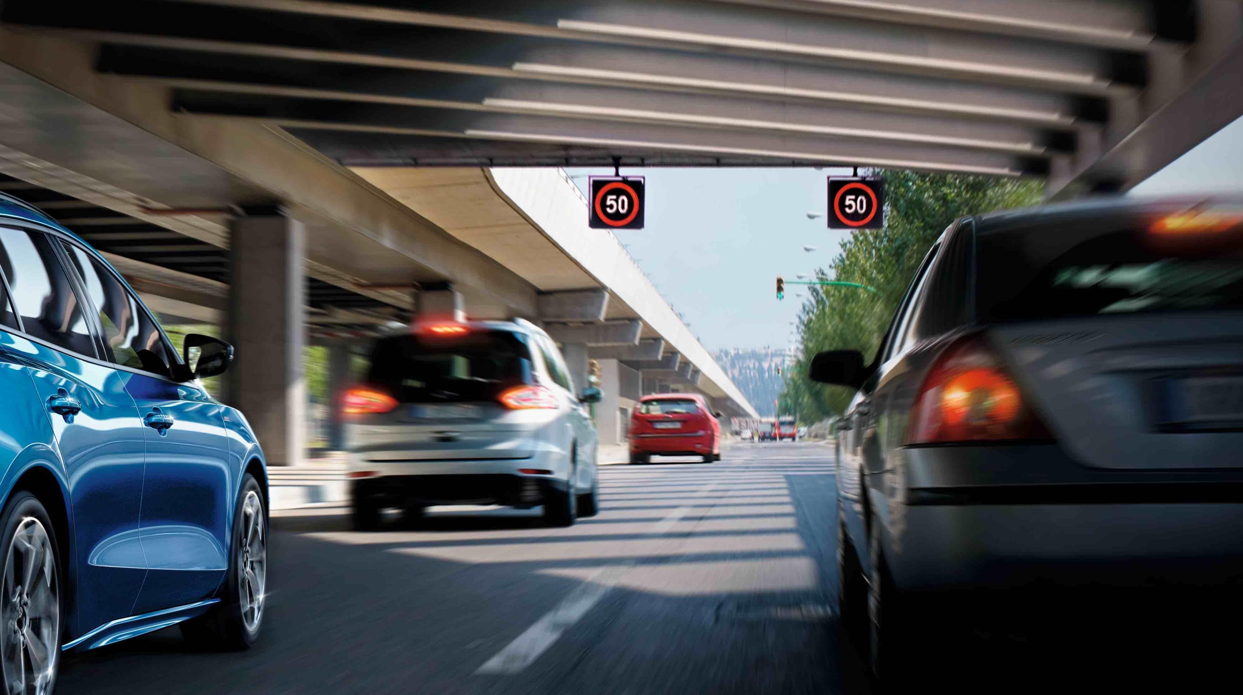 Ford Focus 20.5 年式搭載 Ford Co-Pilot360 全方位智駕科技輔助系統之車型,同步歐盟法規新增 ISA 智慧型速限輔助系統。