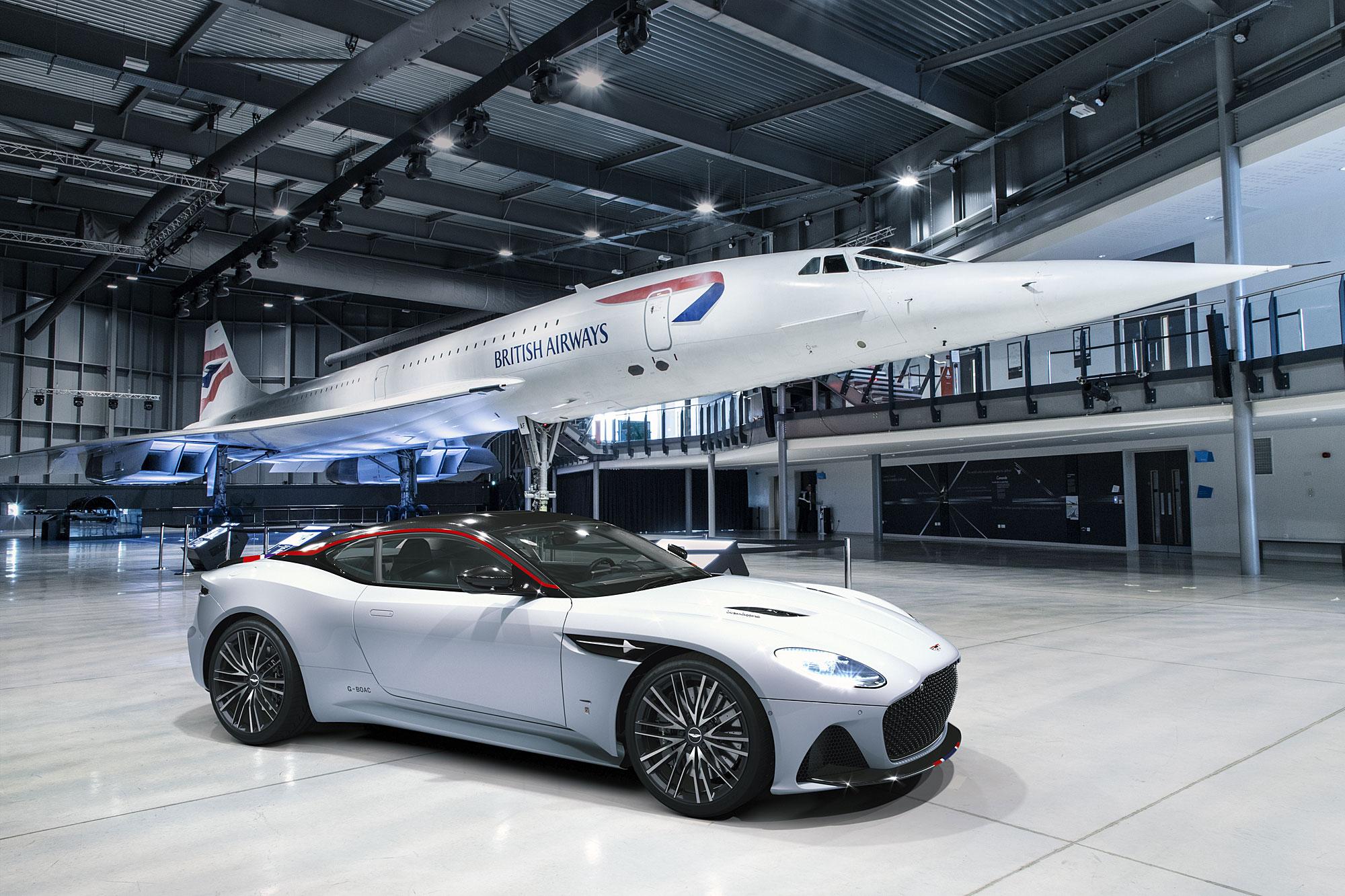 DBS Superleggera Concorde 大量導入英國航空旗下協和號客機的相關元素。
