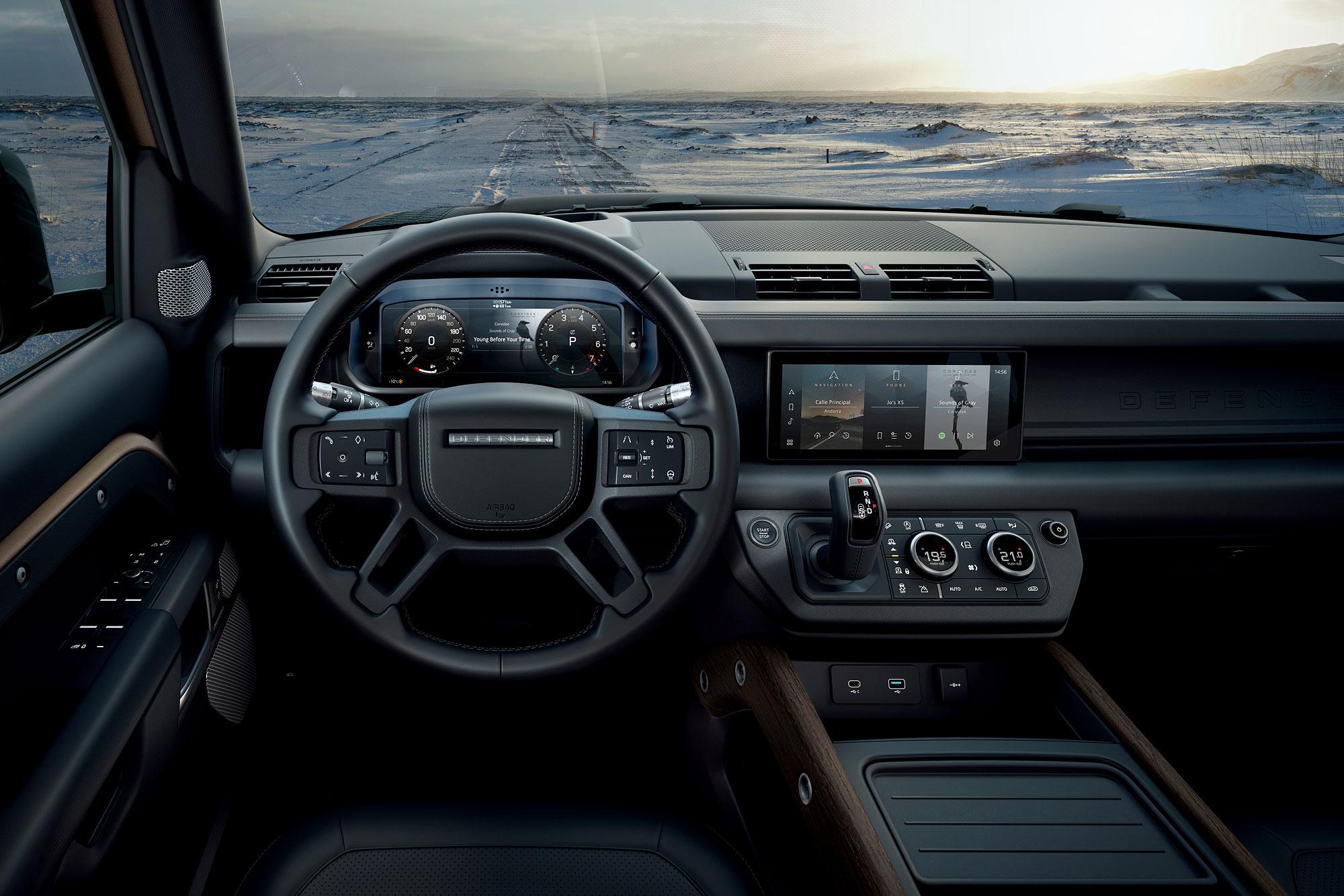 新世代 Defender 車內設計已走向豪華化與科技化