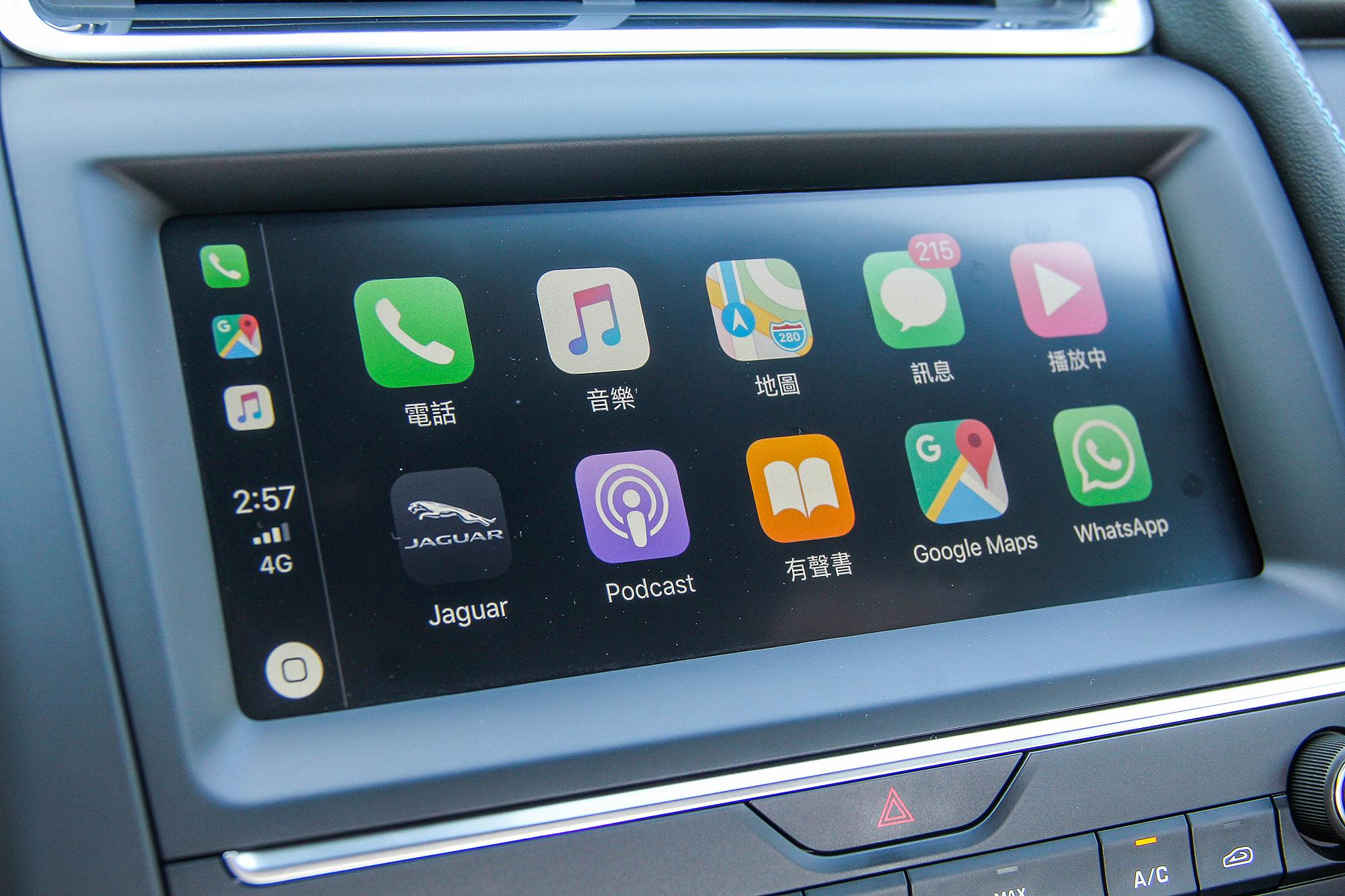 Apple CarPlay 智慧型手機連結仍須加價選配。