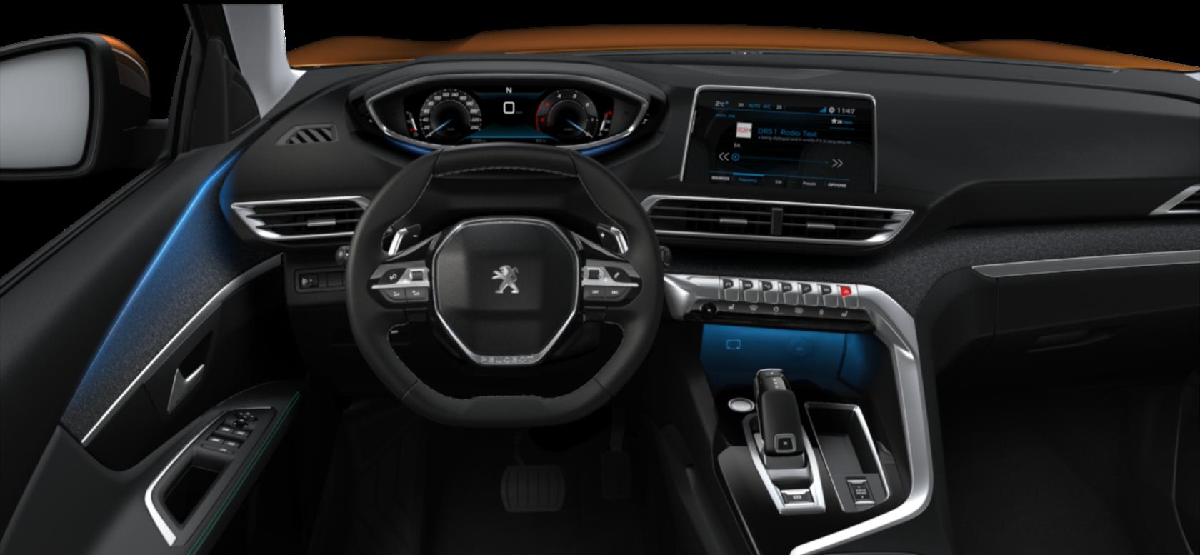 Peugeot 5008 內裝。