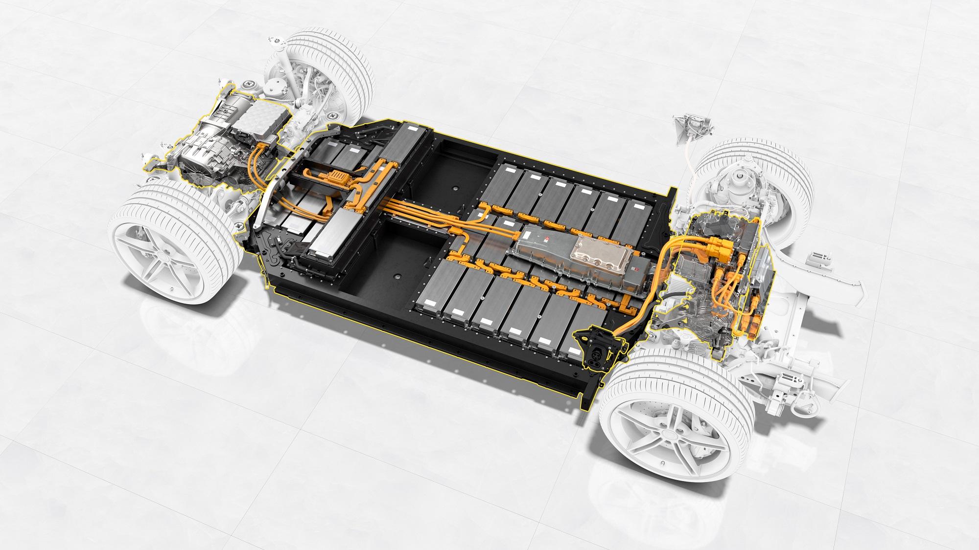 ▲ 保時捷與巴斯夫合作開發高性能電動車用鋰離子電池