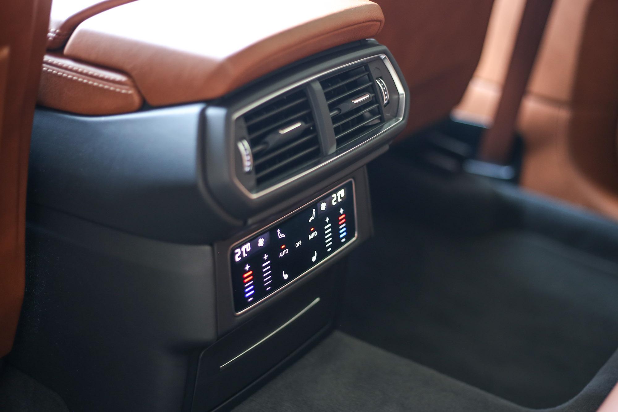 四區恆溫空調配備,座艙內每位乘客都可調整出最適合自己的舒適溫度。