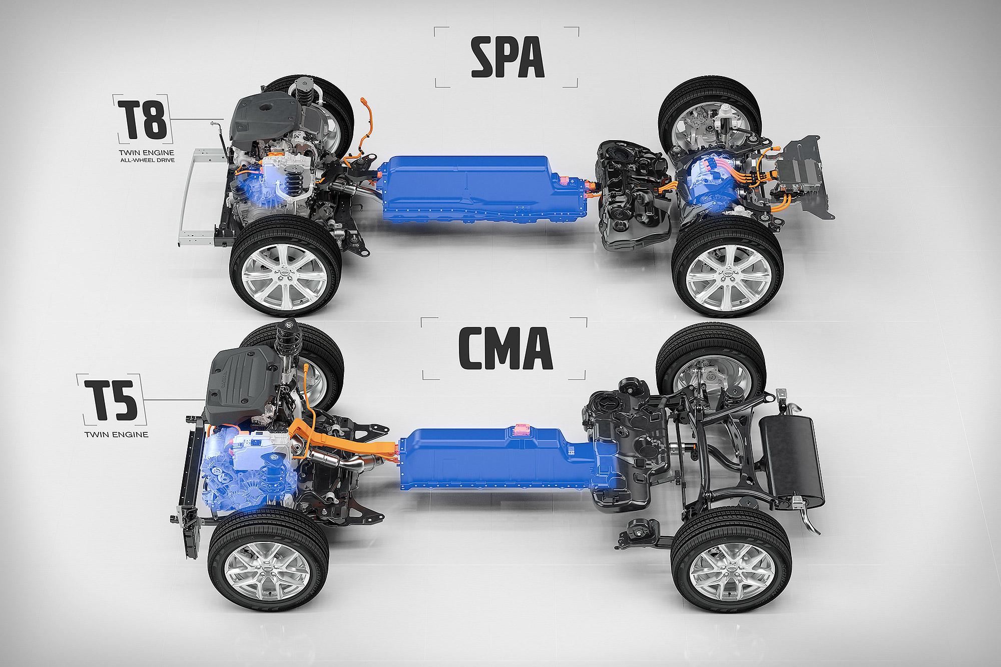 除了 60 Series 與 90 Series 使用的 SPA 平台, CMA 平台設計之初也考量 PHEV 系統的安裝空間。