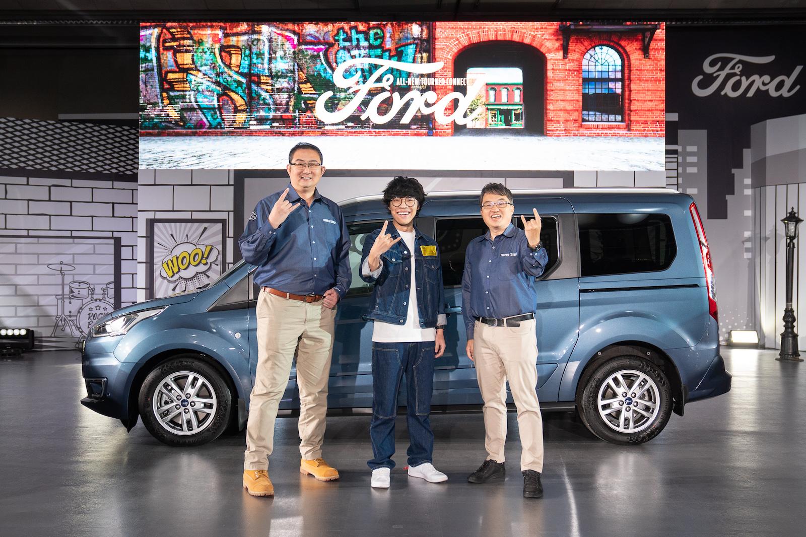 圖左起福特六和汽車總裁 邴兆齊、盧廣仲、福特六和汽車營銷服務處副總經理 蘇嘉明。